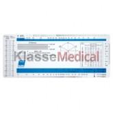 Rigla universala ECG de plastic -KlasseMedical